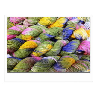 ColourSpun: Hilado natural, Mano-Teñido Tarjeta Postal