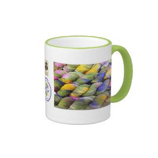 ColourSpun: Hilado natural, Mano-Teñido Taza De Dos Colores