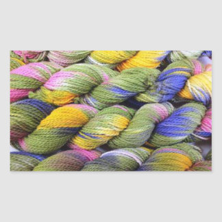 ColourSpun: Natural, Hand-Dyed Yarn Rectangular Sticker