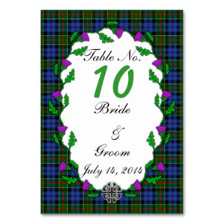 Colquhoun Celtic Wedding Table Number