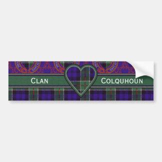 Colquhoun clan Plaid Scottish tartan Bumper Sticker