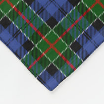 Colquhoun Family Tartan Plaid Pattern Fleece Blanket