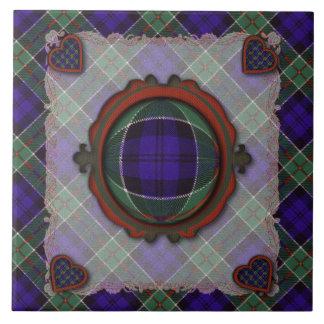Colquhoun Scottish clan tartan - Plaid Ceramic Tile