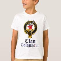 Colquhoun Scottish Crest Tartan Clan Name Clothes T-Shirt