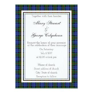 Colquhoun Scottish Wedding Invitation