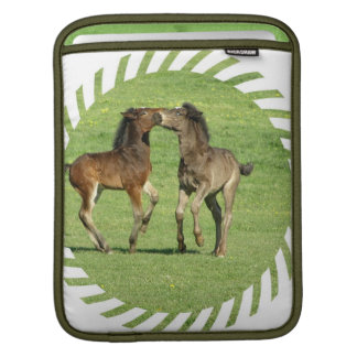 Colt and Foal Playing iPad Sleeve