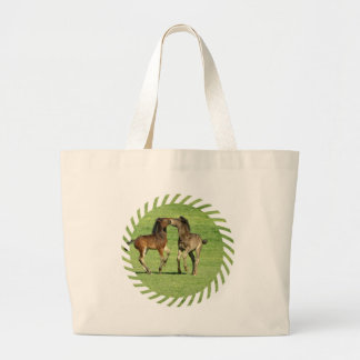 Colt and Foal Playing Jumbo Tote Bag