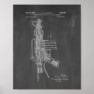 Colt AR-15 Semi-Automatic Rifle Patent - Chalkboar Poster