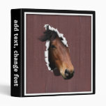 Colt Coming Out of the Barn Vinyl Binder