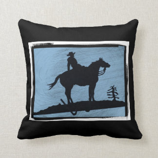 Colt Foal Horse and Barbed Wire Throw Pillow