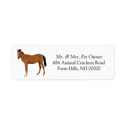 Colt Horse Return Address Label Stickers