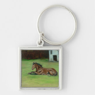 Colt painting quarter horse on items key chains