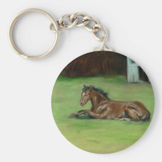 Colt painting quarter horse on items keychain