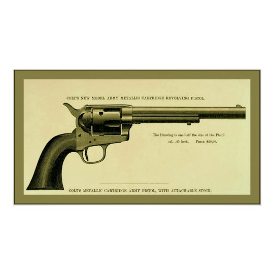 Colt Revolver 1878 Vintage Advertising Poster Zazzle Com
