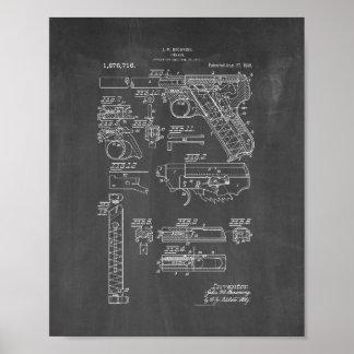 Colt Woodsman Firearm Patent - Chalkboard Poster