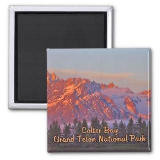 Colter Bay Grand Teton National Park 2 Inch Square Magnet