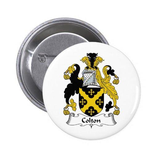 Colton Family Crest 2 Inch Round Button