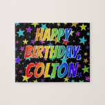 "[ Thumbnail: ""Colton"" First Name, Fun ""Happy Birthday"" Jigsaw Puzzle ]"