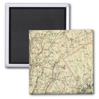 Colton's Driving and Wheeling Map of the US 2 2 Inch Square Magnet