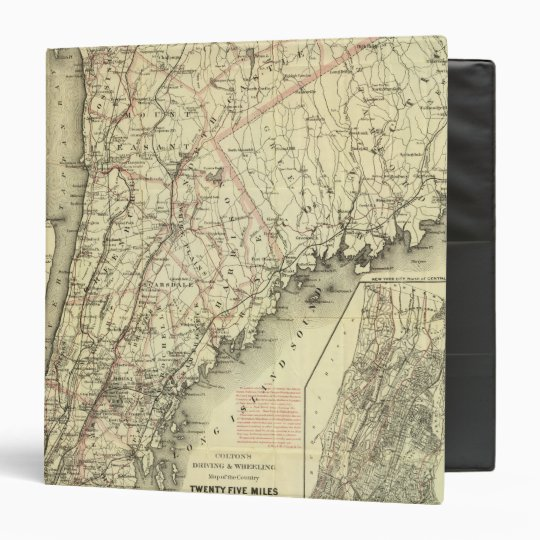 Colton's Driving and Wheeling Map of the US 2 3 Ring Binder