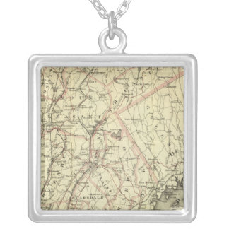 Colton's Driving and Wheeling Map of the US 2 Square Pendant Necklace