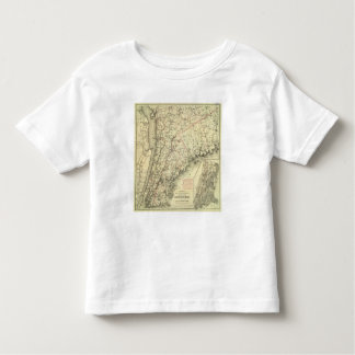 Colton's Driving and Wheeling Map of the US 2 Toddler T-shirt