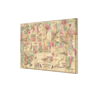 Colton's Plans of US Harbors Canvas Print