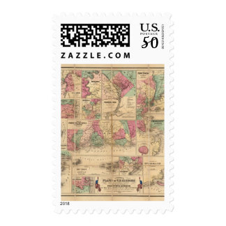 Colton's Plans of US Harbors Postage