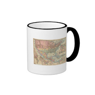 Colton's Railroad And Military Map Ringer Coffee Mug