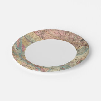 Colton's Railroad And Military Map Paper Plate