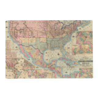 Colton's Railroad And Military Map Placemat