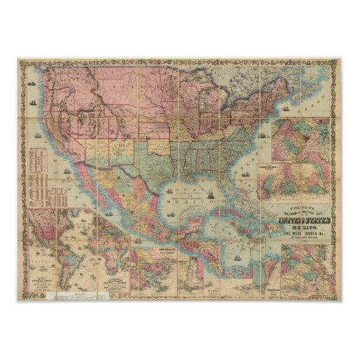 Colton's Railroad And Military Map Poster