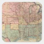 Colton's Railroad And Military Map Square Sticker