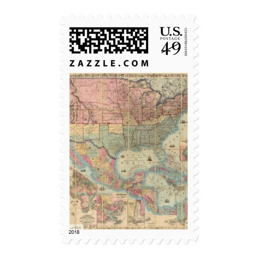 Colton's Railroad And Military Map Stamps