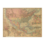 Colton's Railroad And Military Map Wood Wall Art