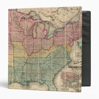 Colton's Railroadand County Map, United States 3 Ring Binder