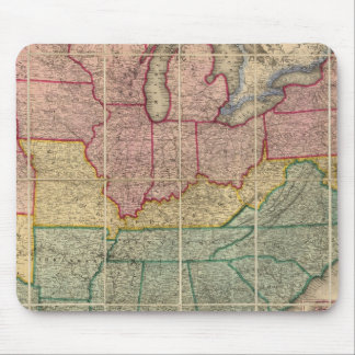 Colton's Railroadand County Map, United States Mouse Pad