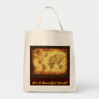 Coltons Vintage Beautiful World Map Tote Bag