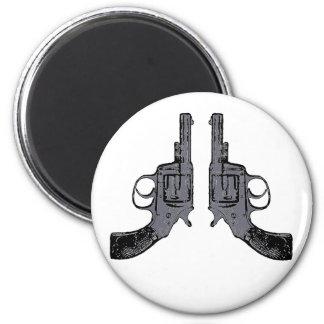 Colts revólver pistola pistols imán redondo 5 cm