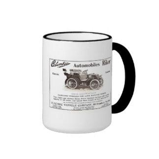 Columbia 1900 eléctrico y taza del coche del gas