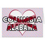 Columbia, Alabama Felicitaciones