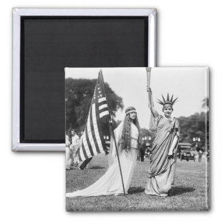 Columbia and Lady Liberty, 1919 Magnet