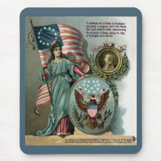 Columbia and the Great Seal Mouse Pad