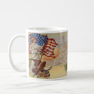 Columbia and United States Capitol Coffee Mugs