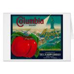 Columbia Apple Crate LabelYakima, WA Cards