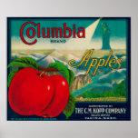 Columbia Apple Crate LabelYakima, WA Poster