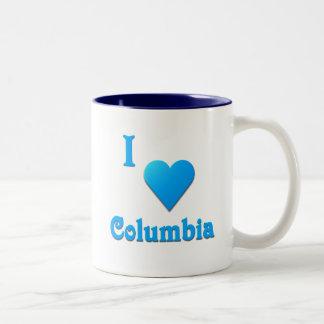 Columbia -- Azul de cielo Taza De Dos Tonos