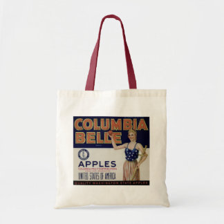 "Columbia Belle Vintage Apple Crate Label"" Tote"