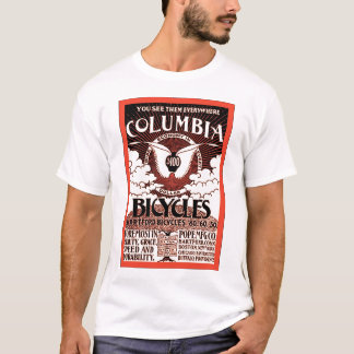 Columbia Bicycles ~ Vintage Bicycle Advertising T-Shirt