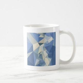 Columbia Blue Abstract Low Polygon Background Coffee Mug
